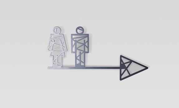 señalización wc