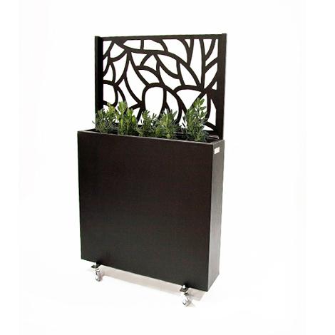 Jardinera met lica nature 100 jardinera para terraza con pantalla met lica urbanum - Jardineras con ruedas ...
